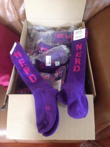 Purple Nerd Socks